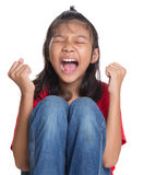 注重年轻亚裔女孩IV 免版税库存照片