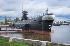 注销潜水艇作为纪念碑在Vytegra 库存照片