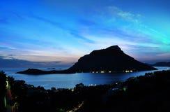 泰伦佐斯岛,卡林诺斯岛希腊 免版税图库摄影