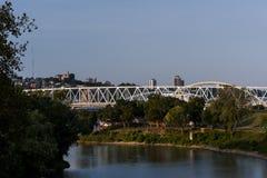 泰勒Southgate桥梁-俄亥俄河 免版税库存照片