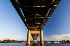 泰勒Southgate桥梁-美国27 -俄亥俄河-纽波特、肯塔基&辛辛那提,俄亥俄 免版税库存图片