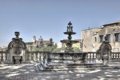 维泰博喷泉Palazzo dei Priori HDRI 免版税图库摄影