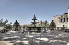 维泰博喷泉Palazzo dei Priori HDRI 图库摄影