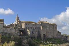 维泰博罗马教皇的宫殿  图库摄影