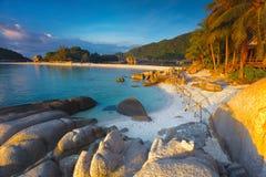 泰国、酸值Nang元海滩和手段 库存照片
