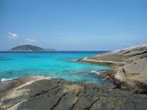 离泰国不远的Smilan海岛 免版税库存图片