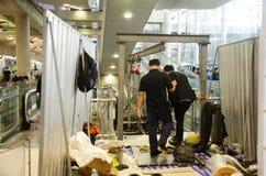 泰国专业机械人修理和维护张 免版税库存照片