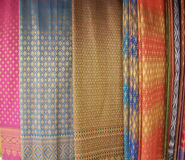 泰国丝绸 免版税图库摄影