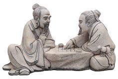 泰国中国s圣所的雕象 库存照片