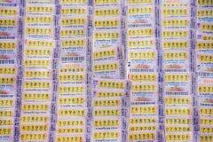 泰国乐透纸牌 库存图片