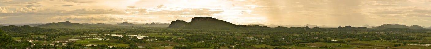 泰国乡下全景视图  免版税库存照片