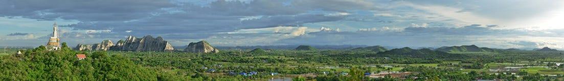 泰国乡下全景视图  库存照片