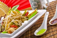 泰国乳房鸡烤s的绵羊 免版税库存照片