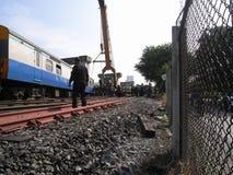 泰国事故状态铁路  免版税库存照片