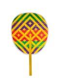 泰国五颜六色的折叠的爱好者,那由竹子制成 库存图片