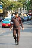泰国交通警任命军官 库存图片