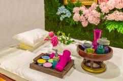 泰国传统医学 身体草本温泉治疗产品de 免版税库存照片