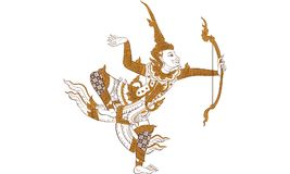 泰国传统纹身花刺,泰国传统绘画传染媒介 库存照片