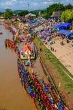 泰国传统长赛艇 图库摄影