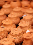 泰国传统黏土瓦器 图库摄影