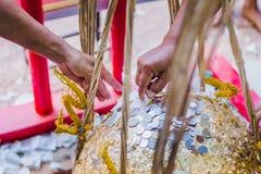 泰国传统,叫的就职典礼仪式 免版税库存照片