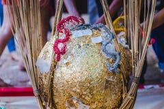 泰国传统,叫的就职典礼仪式 免版税库存图片