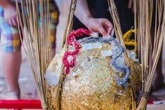 泰国传统,叫的就职典礼仪式 库存照片
