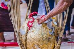 泰国传统,叫的就职典礼仪式 免版税图库摄影