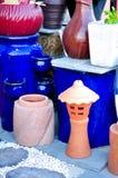 泰国传统黏土瓦器和更多 免版税库存照片