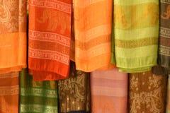 泰国传统围巾纹理  库存图片