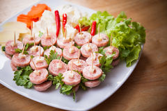 泰国传统融合食物Nham三明治 免版税库存图片