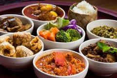 泰国传统食物餐具叫` Kantoke晚餐` 免版税图库摄影