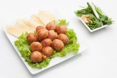 泰国传统香肠 免版税库存图片