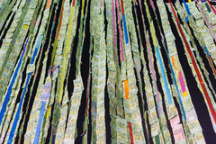 泰国佛教捐赠金钱钞票 免版税库存照片
