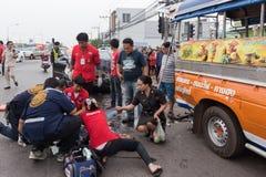 泰国公路事故 图库摄影