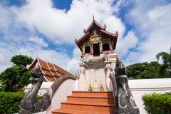 泰国兰纳样式寺庙 免版税库存照片