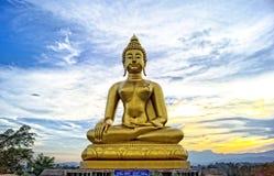 泰国兰纳菩萨的图象 库存照片