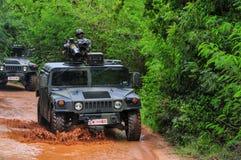 泰国军队野外训练 库存照片