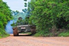 泰国军队野外训练 免版税库存照片