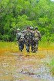 泰国军队野外训练 图库摄影
