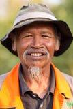 泰国农夫的纵向 免版税库存照片