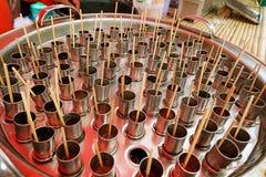 泰国冰流行音乐或冷冻机流行音乐在市场上 库存照片