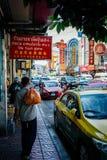 泰国出租汽车事务在中国镇 免版税图库摄影