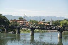 泰国北碧死亡铁路桥河KWAI 库存照片