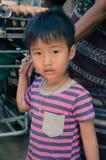 泰国卡伦小山部落孩子 免版税库存图片
