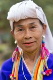 泰国卡伦部落妇女画象 免版税图库摄影