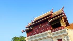 泰国历史的寺庙细节 免版税库存照片