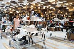 泰国发现盛大再开的第一天穿上鞋子区段装饰 图库摄影