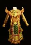 泰国古典服装舞蹈演员的男s 库存照片