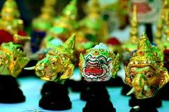 泰国古典舞蹈面具模型 免版税库存图片